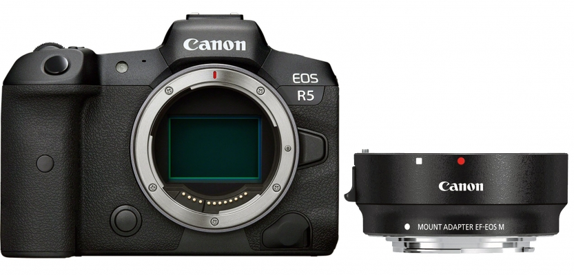 Canon R + adapter